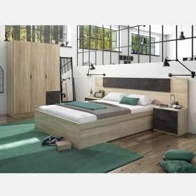 Pack dormitorio Andy óxido estilo industrial