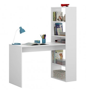 Mesa con estantería reversible Duplo. Blanco