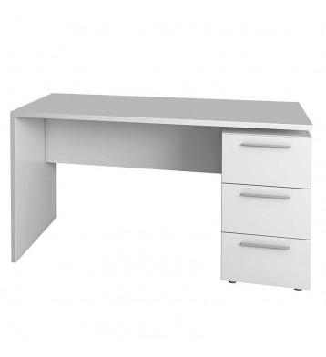 Escritorio color blanco con 3 cajones 138x74x60 cm
