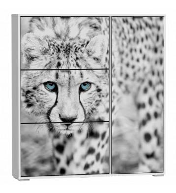 Zapatero 4 puertas 129x120cm,  Cheetah