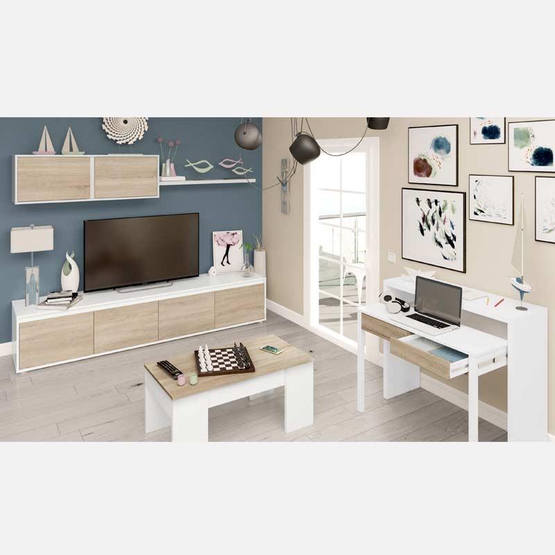 Pack Salon Mueble Mesa Centro y Consola Extensible - Miroytengo.es