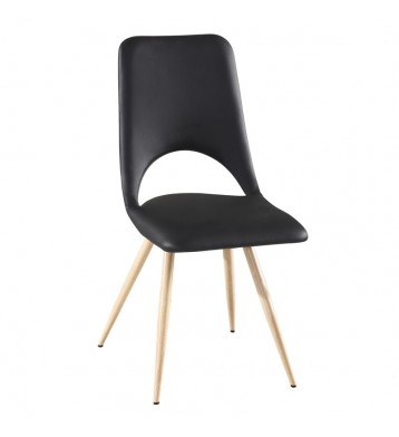 Pack 2 sillas negras Lyon diseño moderno