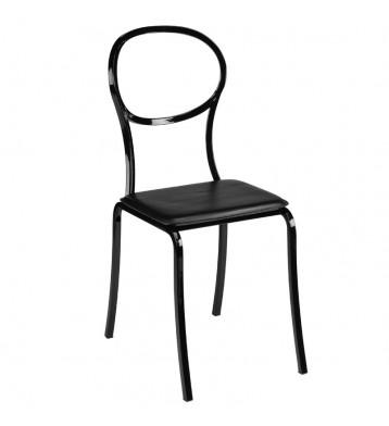 Pack 2 sillas negras vintage Bita metal