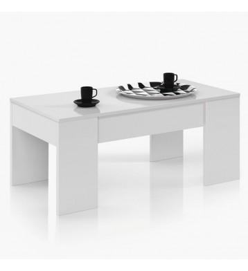 Mesa centro blanco mate elevable 100x50