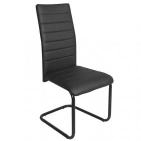 Silla Merak negra metal acolchadas 98x55x43