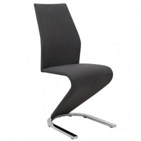 Silla Unique negra diseño salón 100x62x43