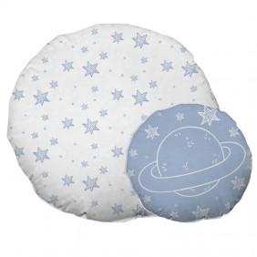 2 cojines infantiles Espacio azul blanco